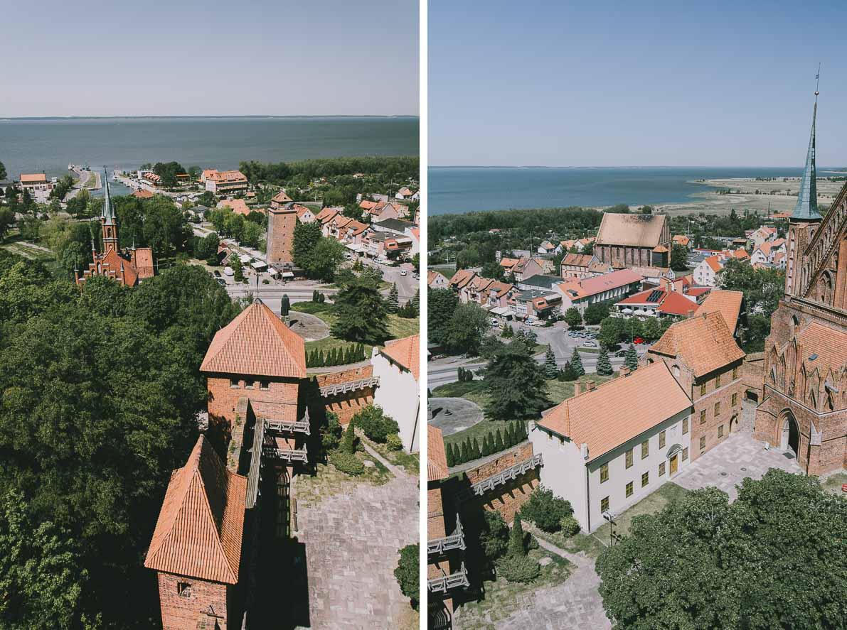 Atrakcje-Fromborka panorama Zalewu Wiślanego