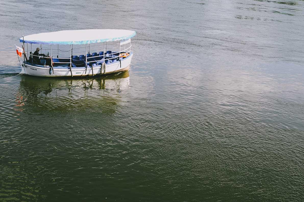 Torun-atrakcje łódka nawiśle