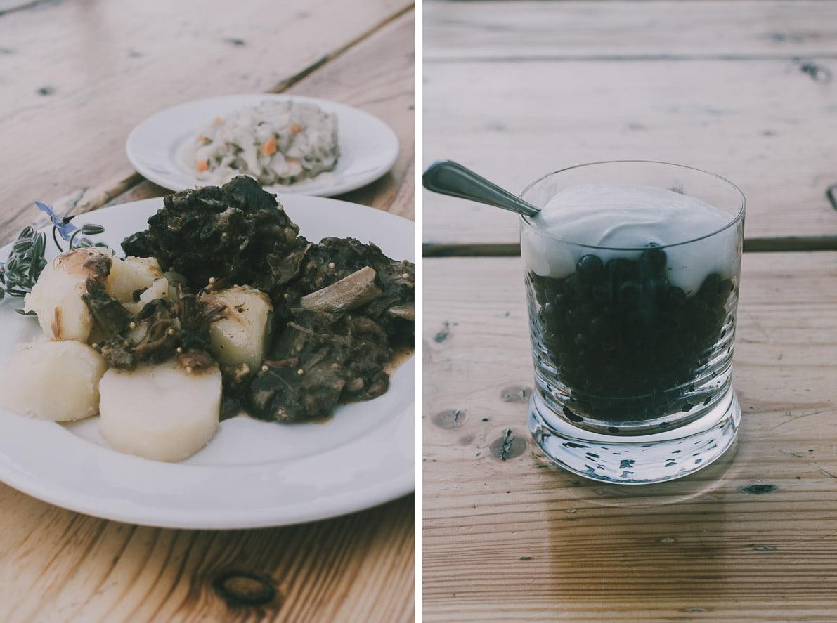 Bieszczady-kulinarnie Wilcza Jama dziczyzna