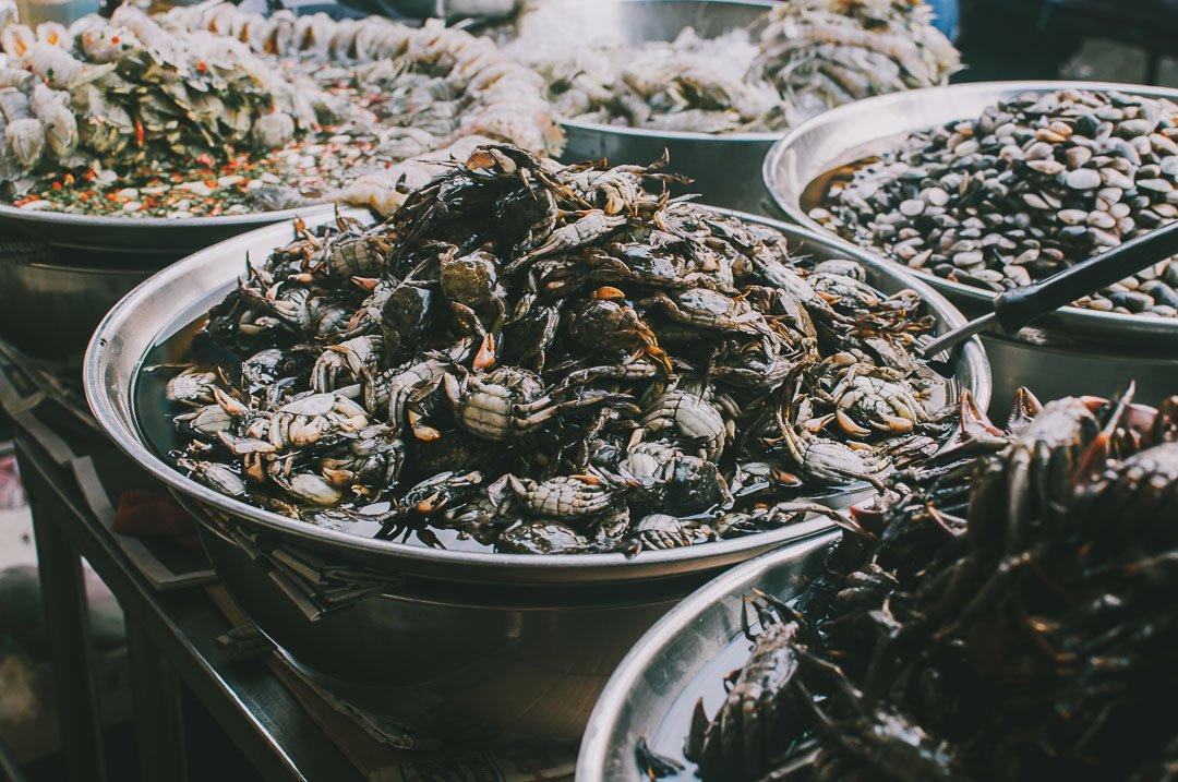 Chinatown-w-Bangkoku owoce morza