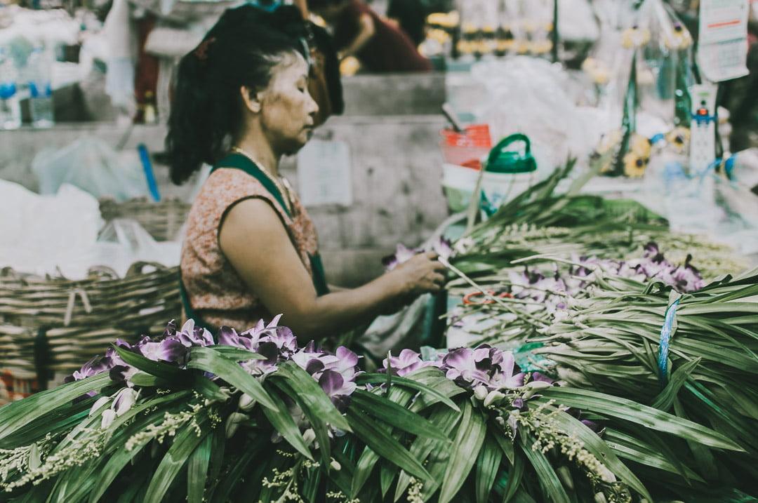 Chinatown-w-Bangkoku targ kwiatów