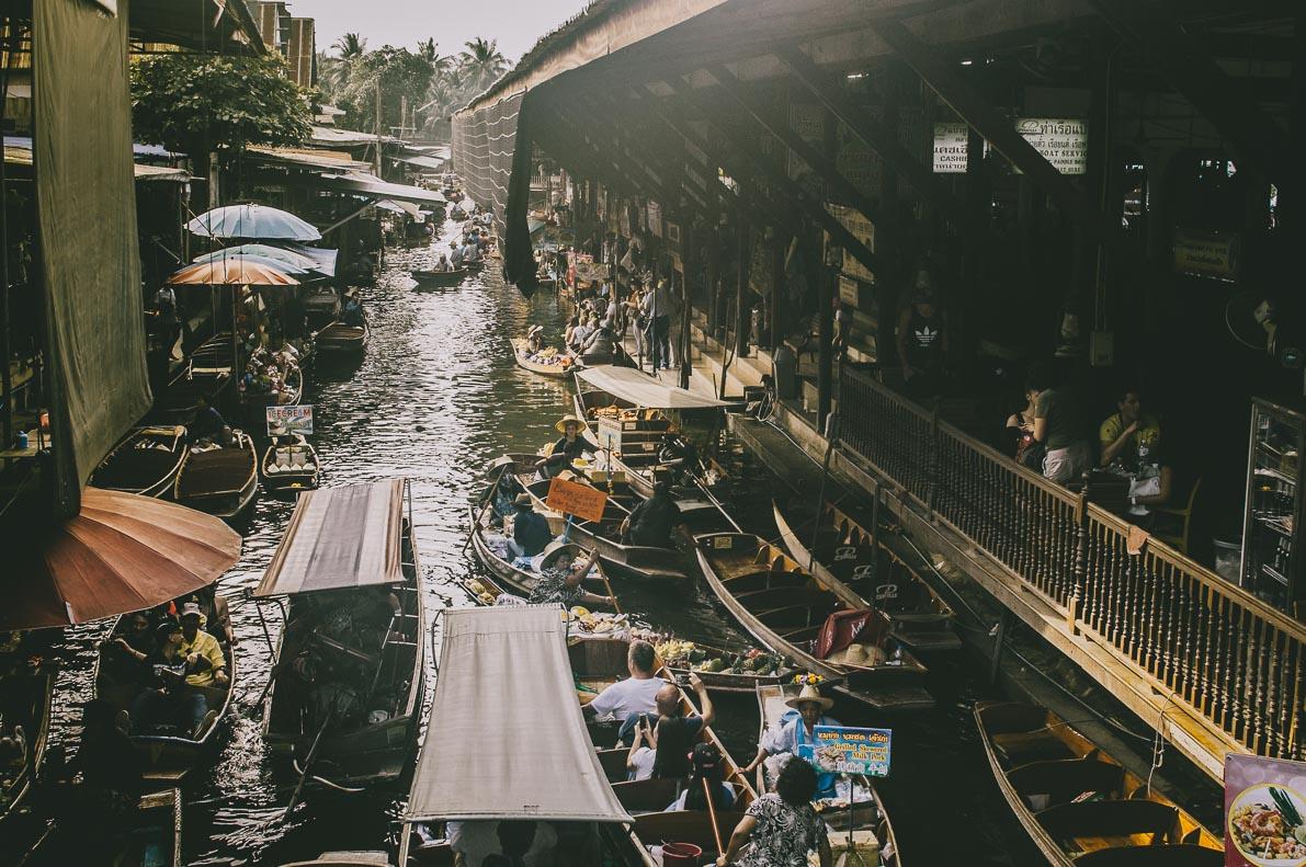 Floating-market-Damnoen-Saduak handel