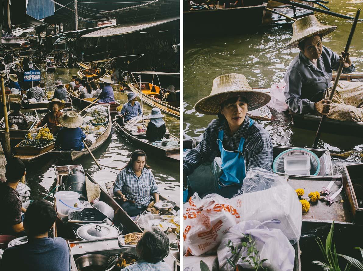 Floating-market-Damnoen-Saduak handlarze