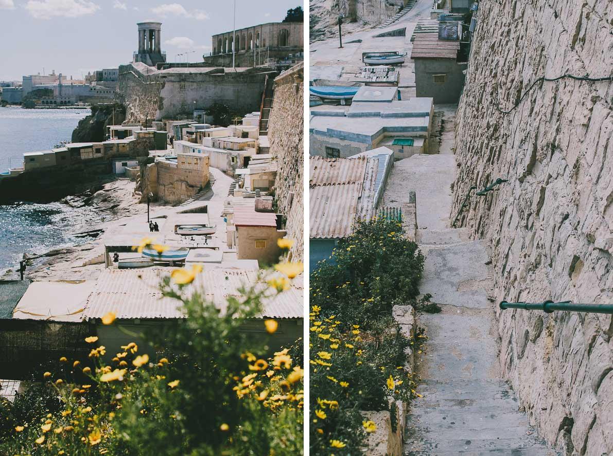 Valletta-stolica-Malty DOMKI RYBAKÓW