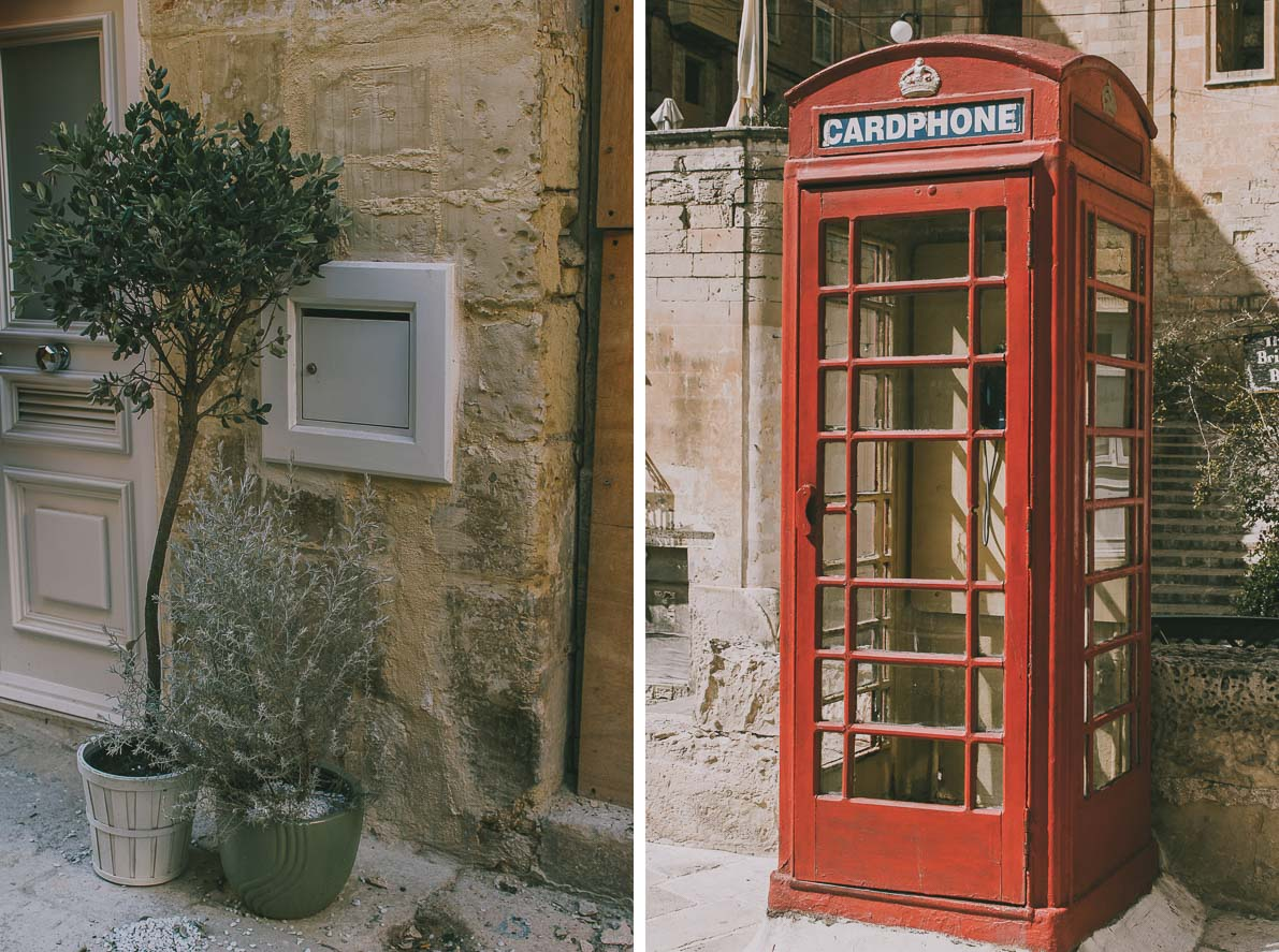 Valletta-stolica-Malty angielskia budka telefoniczna