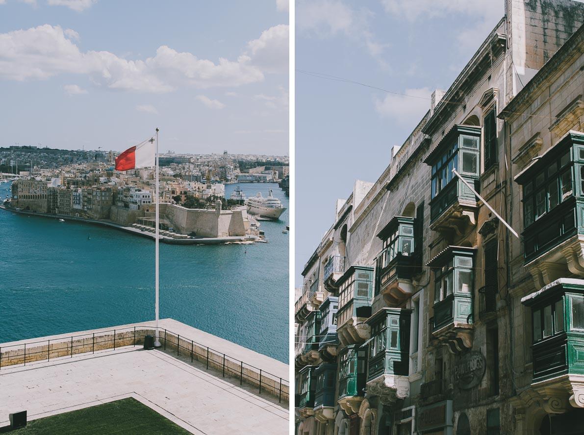 Valletta-stolica-Malty Flaga