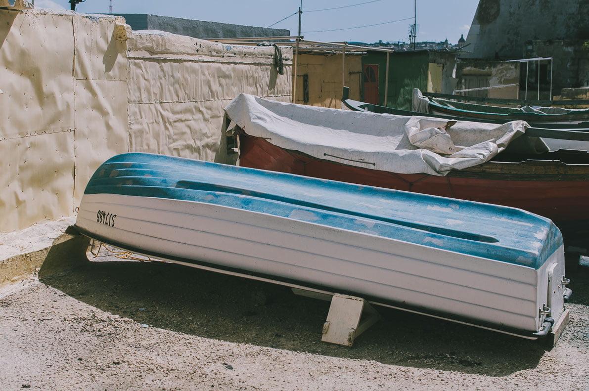 Valletta-stolica-Malty łodzie rybackie