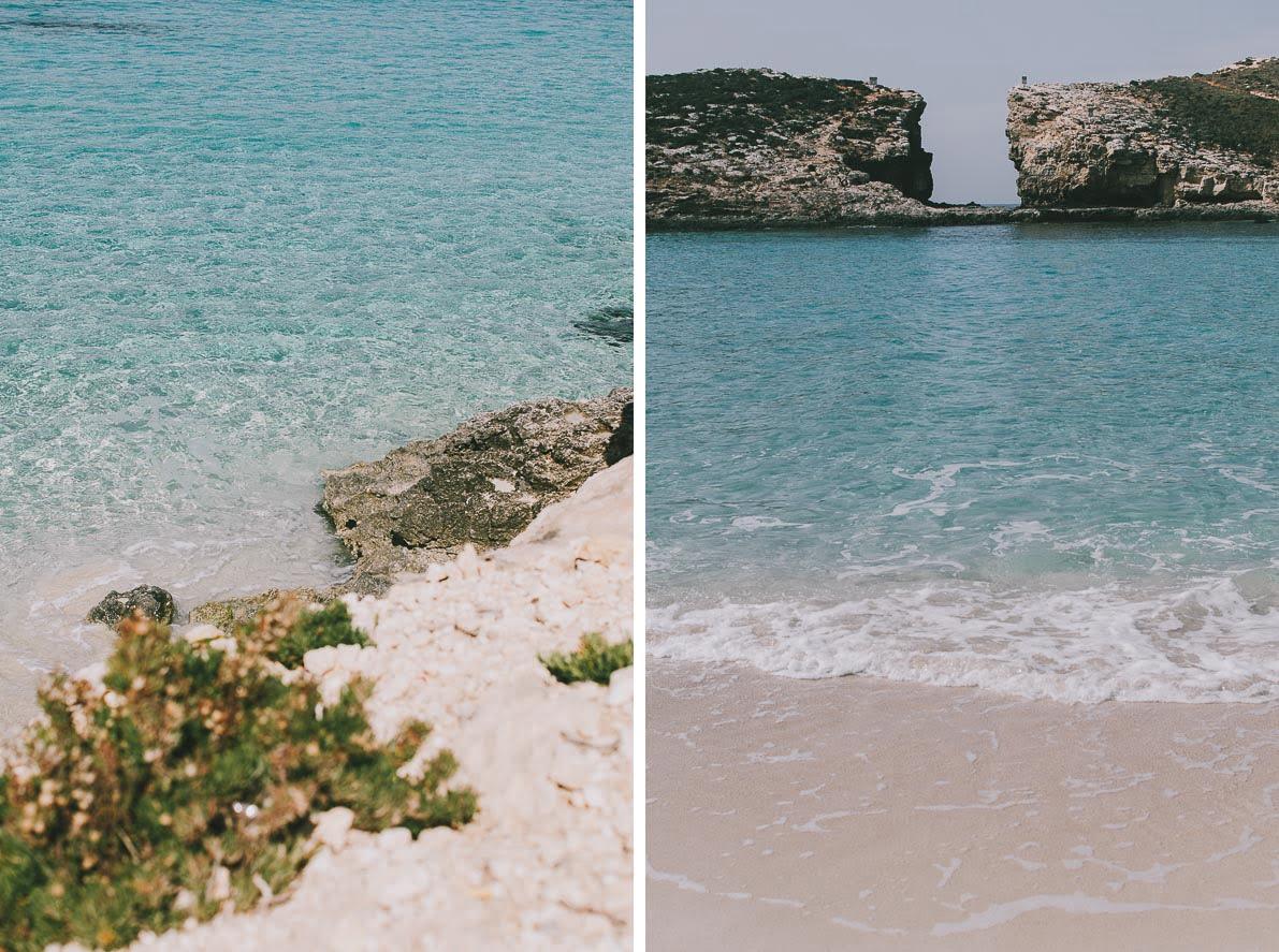 Wyspa-Comino zatoka