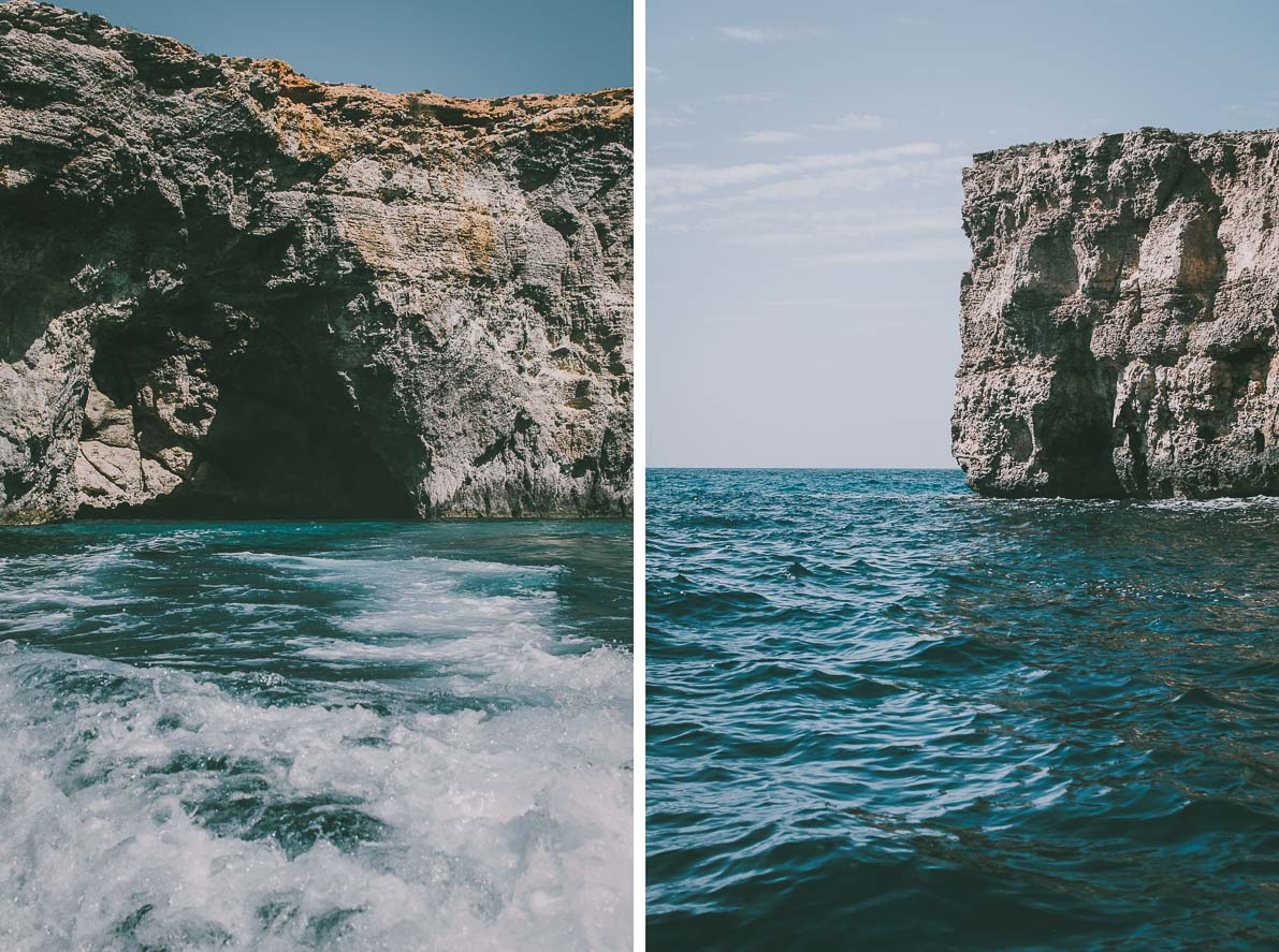 Wyspa-Comino klify