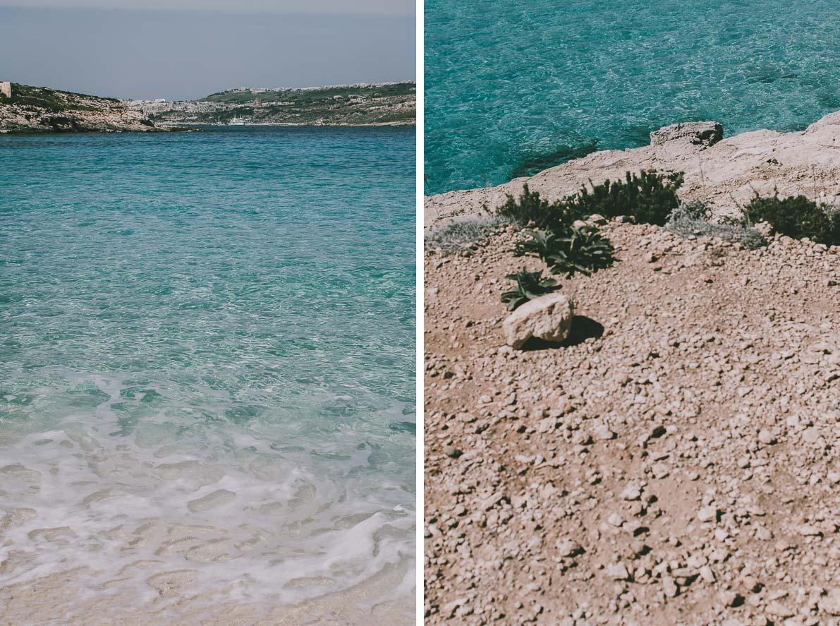 Wyspa-Comino błękitna laguna