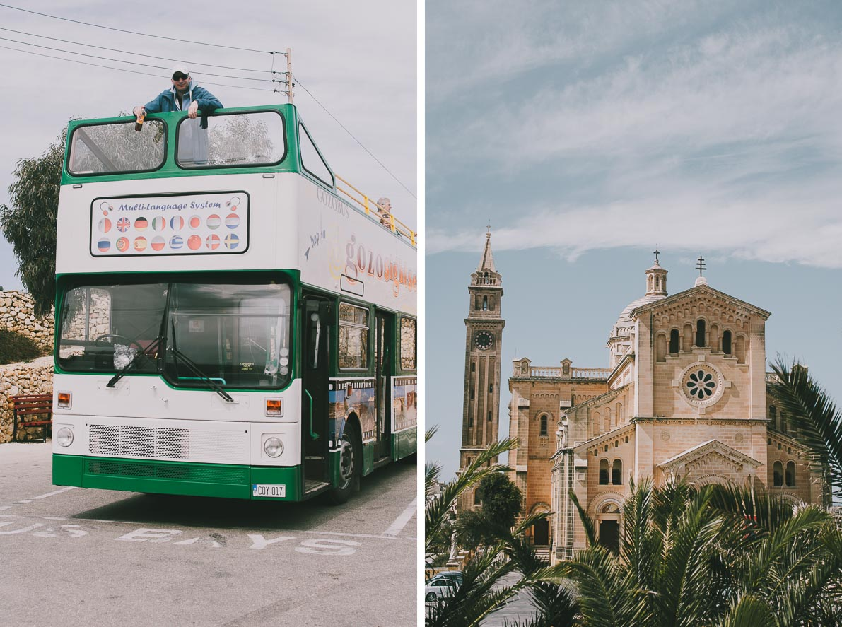 Wyspa-Gozo Autobus hop on – hop off