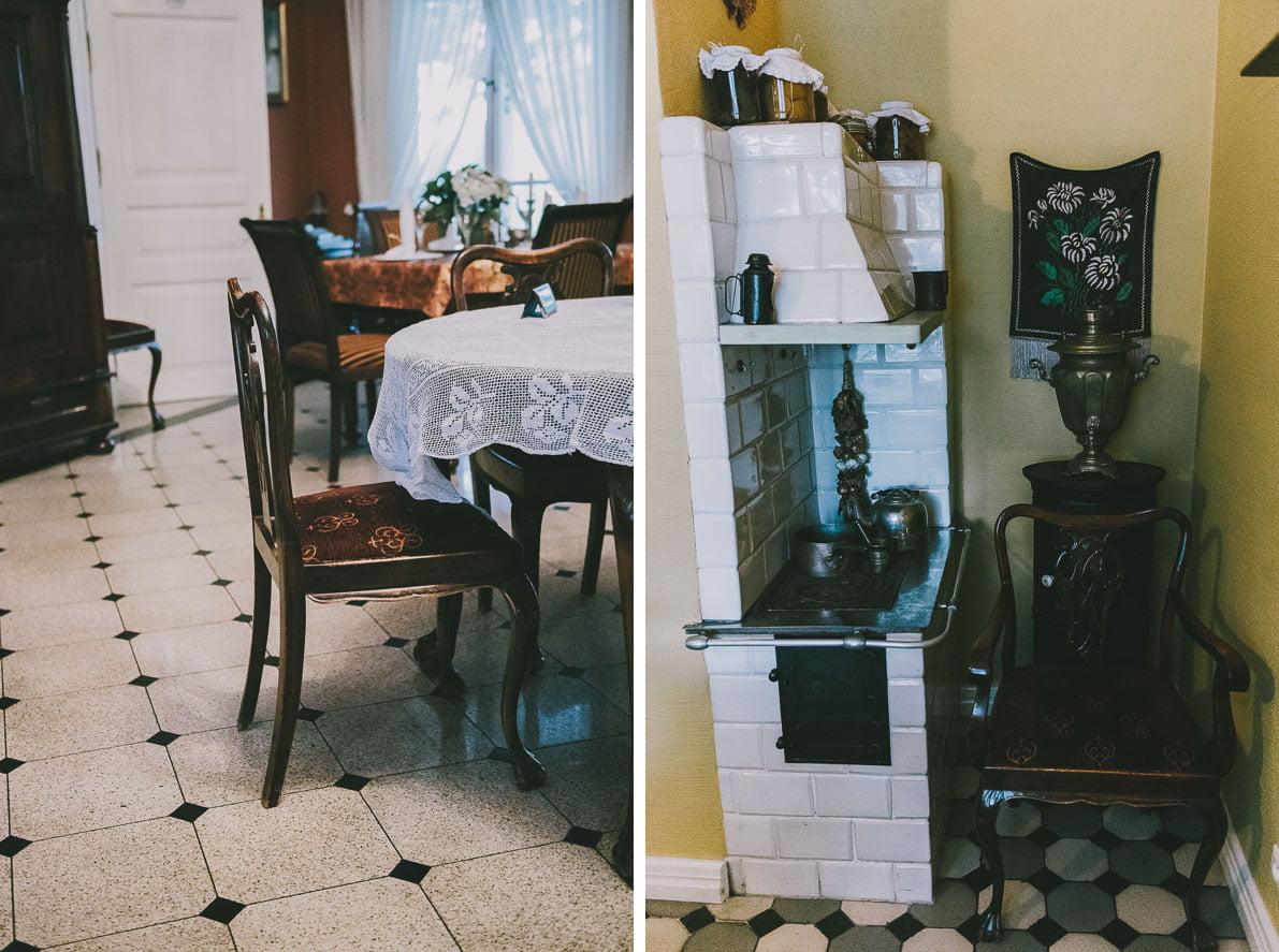 atrakcje-bialowiezy wystrój carskiej restauracji
