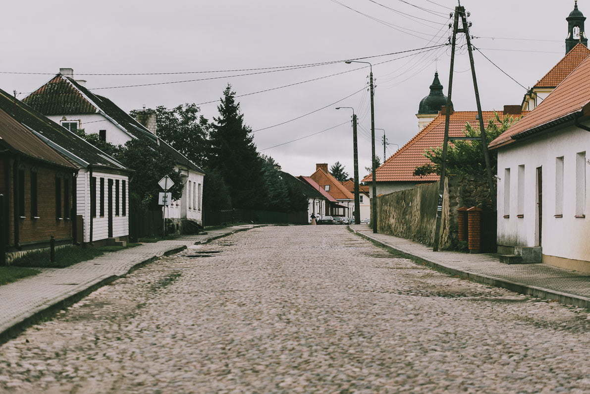 Tykocin-na-podlasiu Brukowana tykocińska uliczka