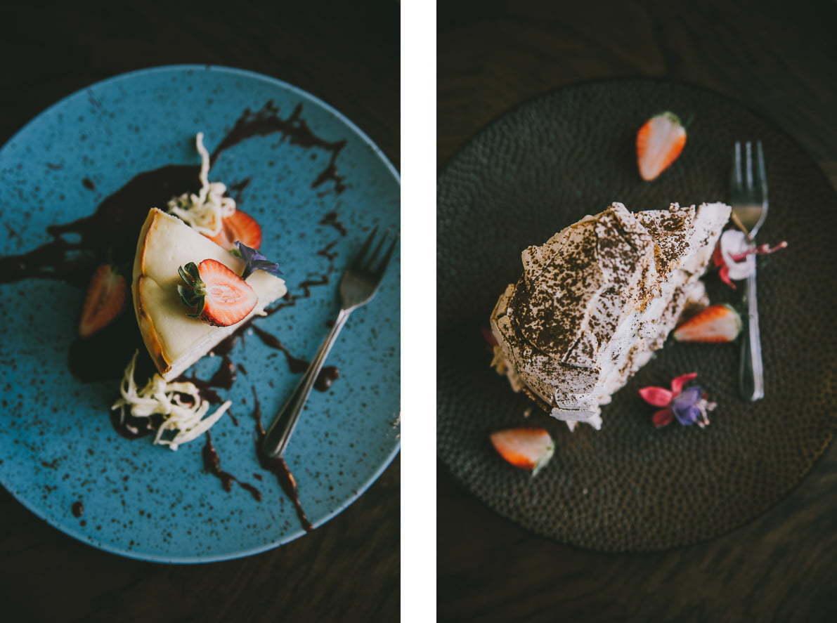 Restauracja Majolika - beza zkremem kawowym itruskawkami