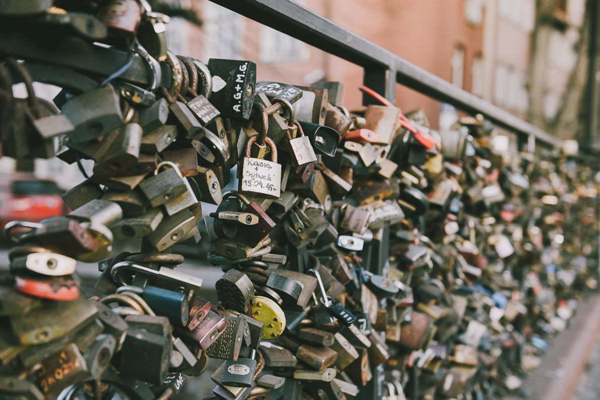Wiosenne spacery poGdańsku - most miłości