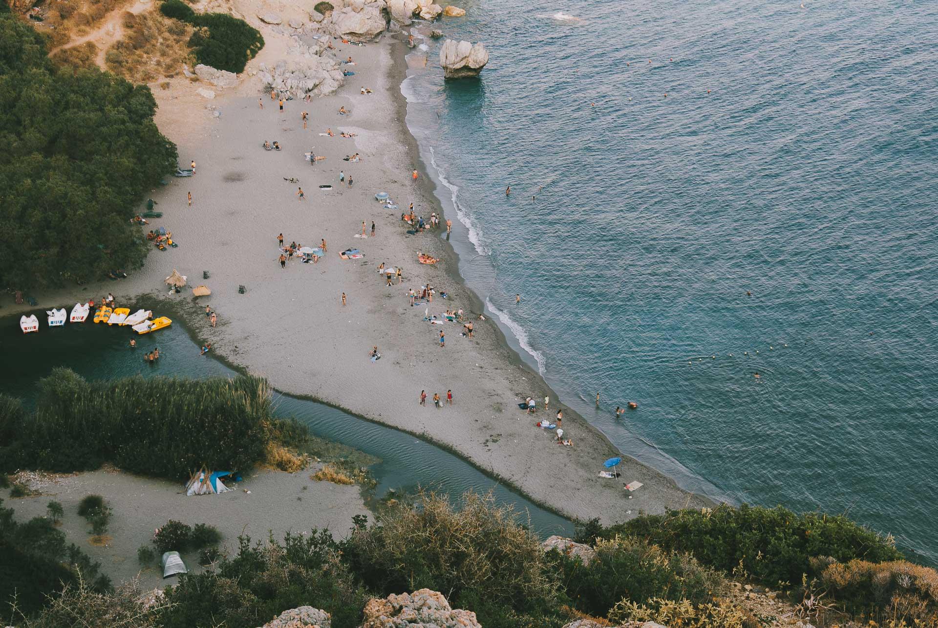 Kreta - plaża Preveli