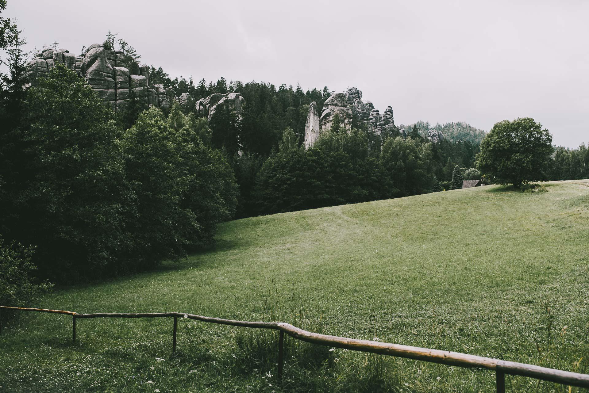 Skalne Miasto Adrspach wCzechach - panorama
