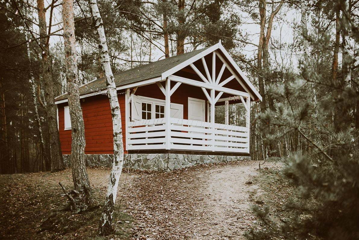 Arendel Wioska Norweska - domek czerwony A