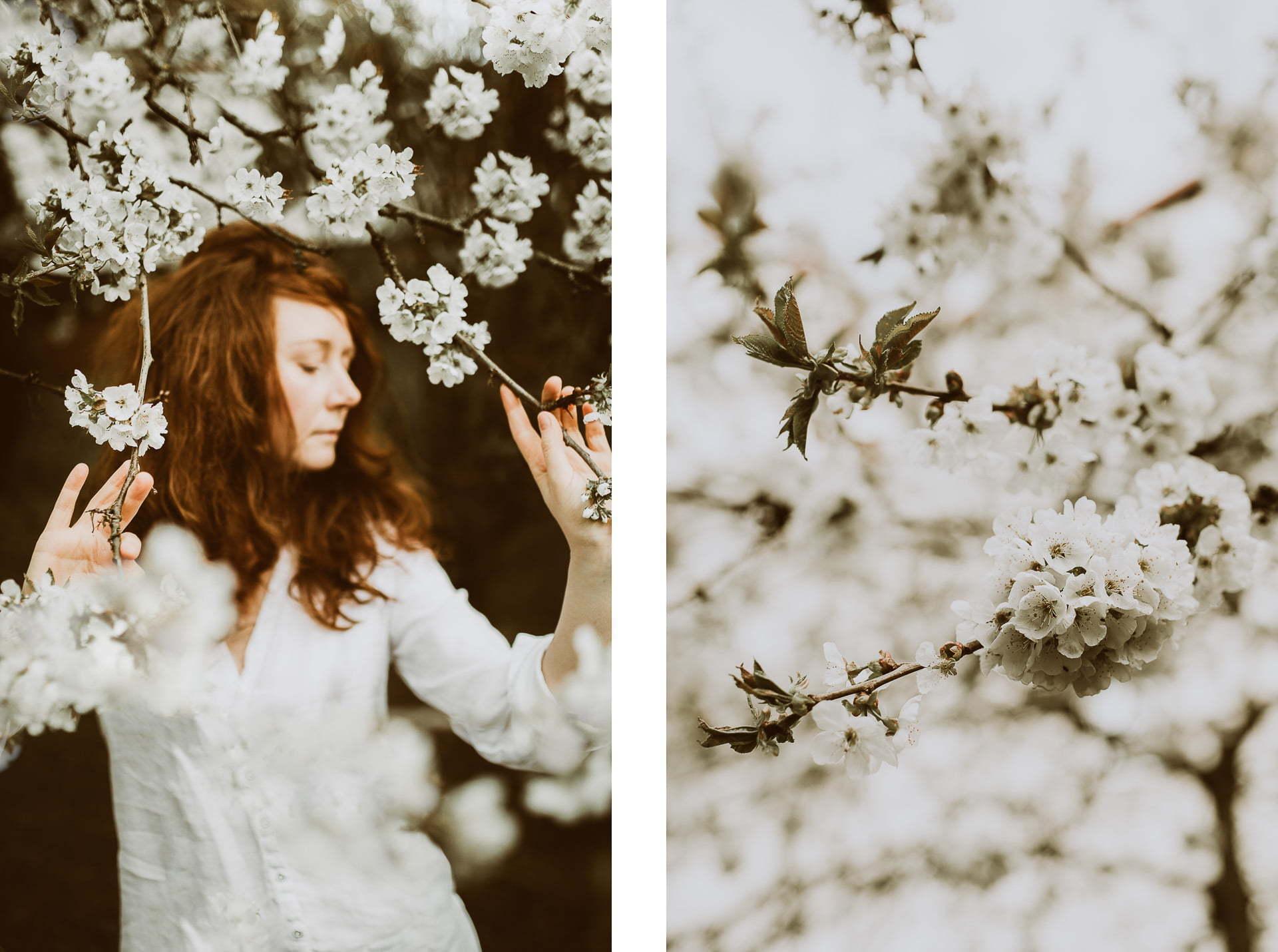 Wiosenne zdjęcia - portret wkwiatach