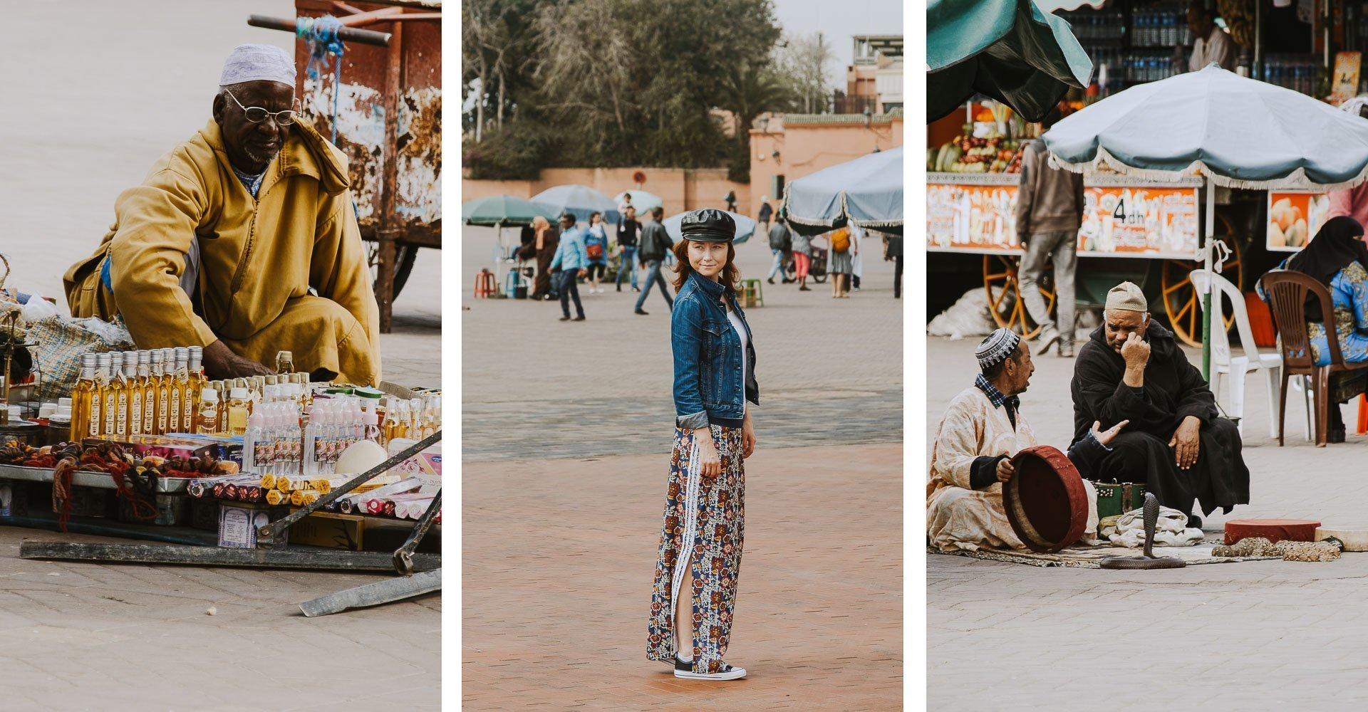 Marrakesz - plac Dżamaa al-Fina