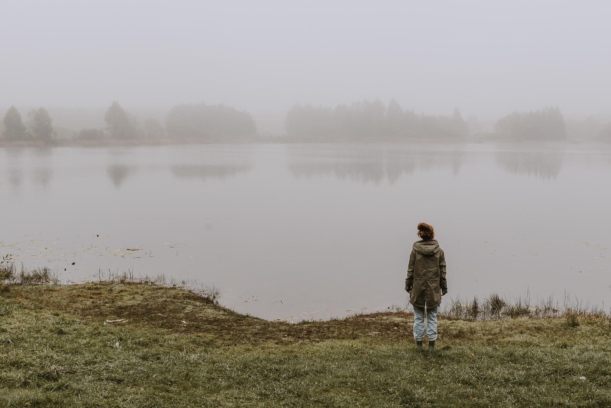 Domek wlesie naWarmii - jezioro