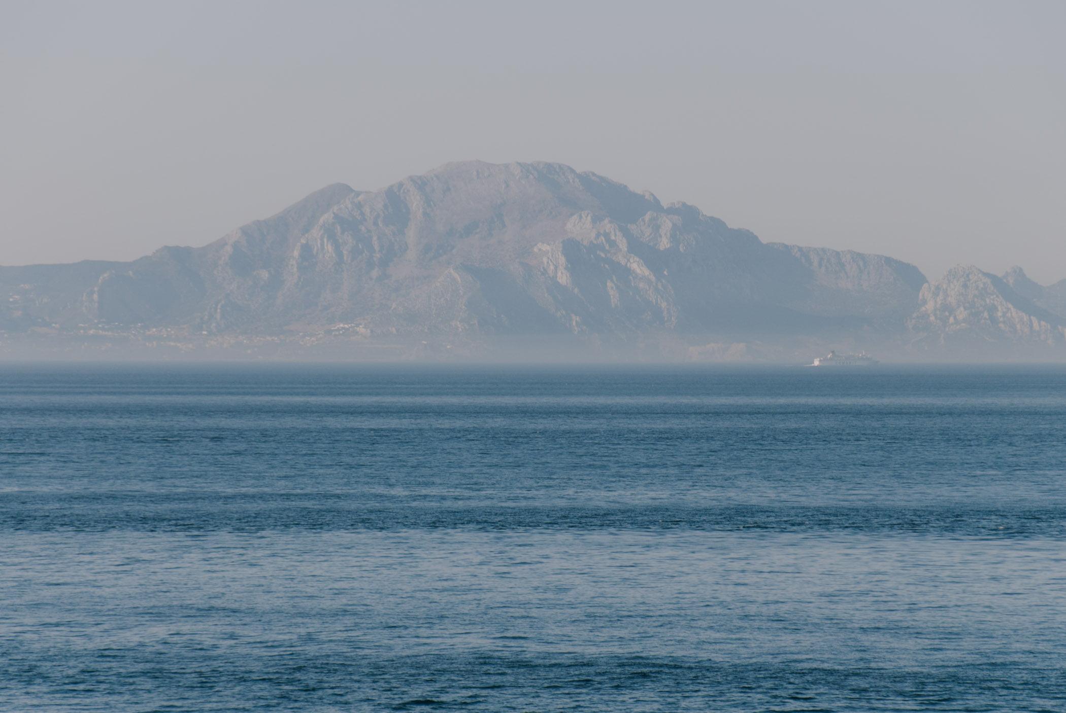 Gibraltar widok naAfrykę
